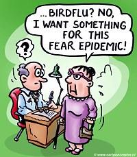 Bird flu cartoon courtesy of Peter Helleman