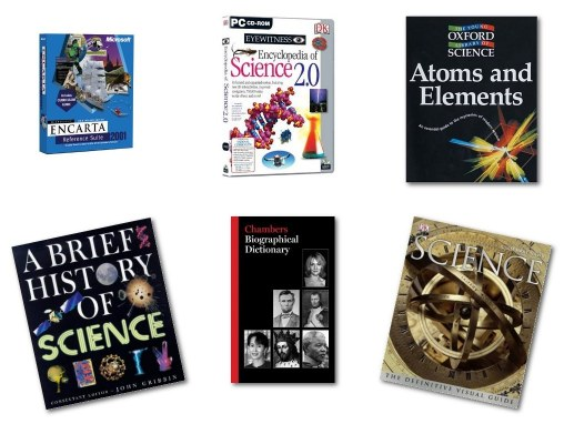 A small selection of the books and multimedia to which I have contributed during more than a quarter of a century in science communication