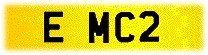 E MC2 number plate