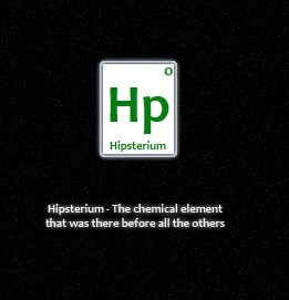 hipsterium-chemical-element