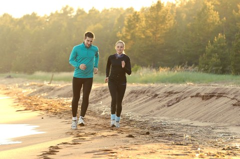 Jogging couple image via Shutterstock