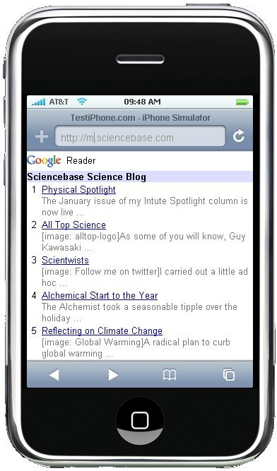sciencebase-on-iphone