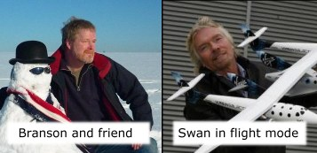 Swan and Branson - space-race dreams